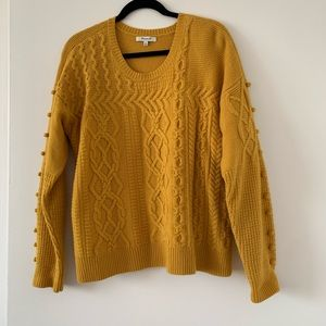 Gold Madewell wool Cable-knit Sweater Size XL